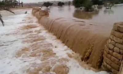 السيول تملأ الخزانات الجوفية والبحيرات الصناعية بجنوب سيناء