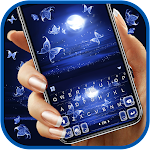 Moonlight Butterfly Keyboard Background icon