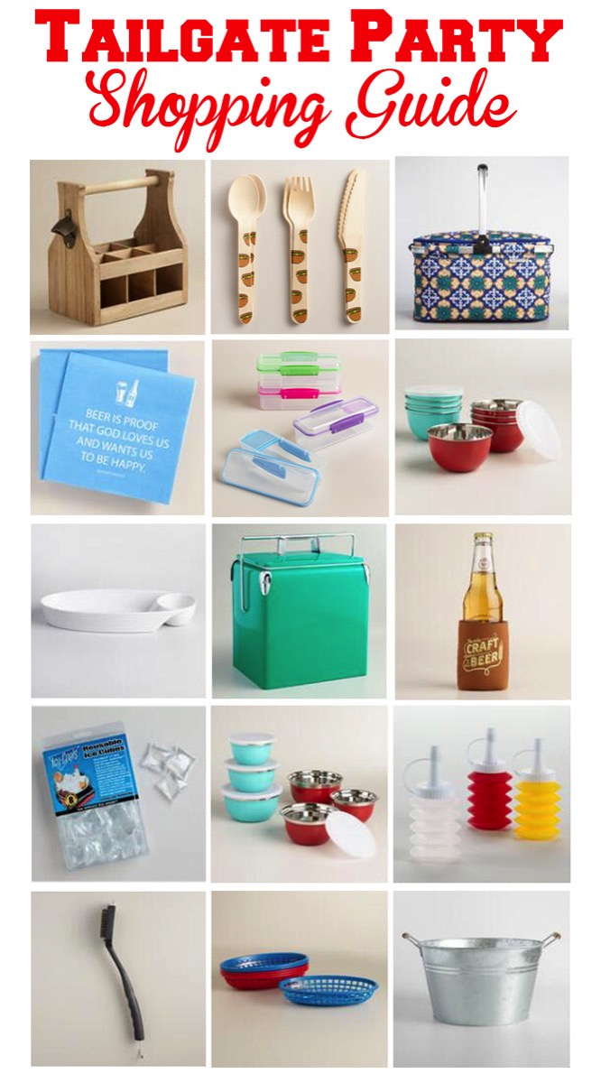 Everything you need to throw a perfect tailgate or picnic.  Make your party portable!