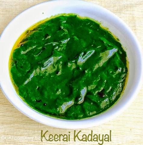 Easy Keerai Masiyal Recipe (Mulai Keerai Kadayal without dal) | SpinachPuree 2
