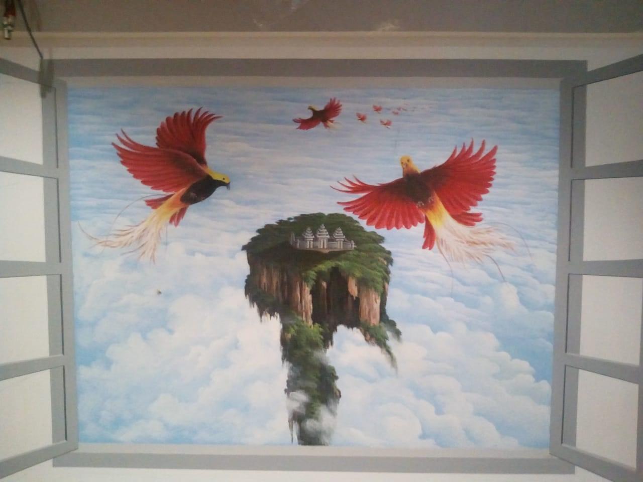 Seni Lukisan Mural Burung Di Indonesia