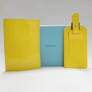 Tiffany & Co. Patent Leather Passport Holder and Luggage Tag Pair