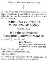 Monden-de Jong. Carolina Cornelia Rouwadvertentie.jpg