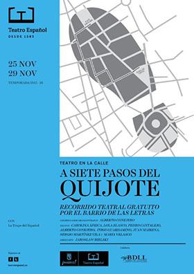 'A siete pasos del Quijote' recorrido por las calles y plazas del Barrio de las Letras