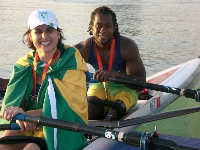 Josiane Lima e Elton Santana bronze no remo nos Jogos Paralímpicos Pequim 2008