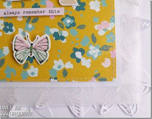 Scrapbooking layout - Farfalle fustellate tono su tono