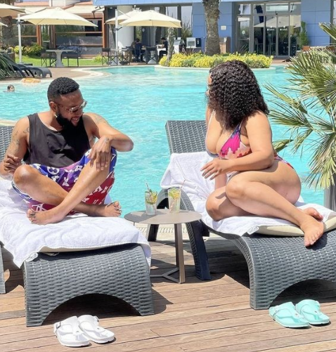 Lovely photo of singer KCee and his wife
