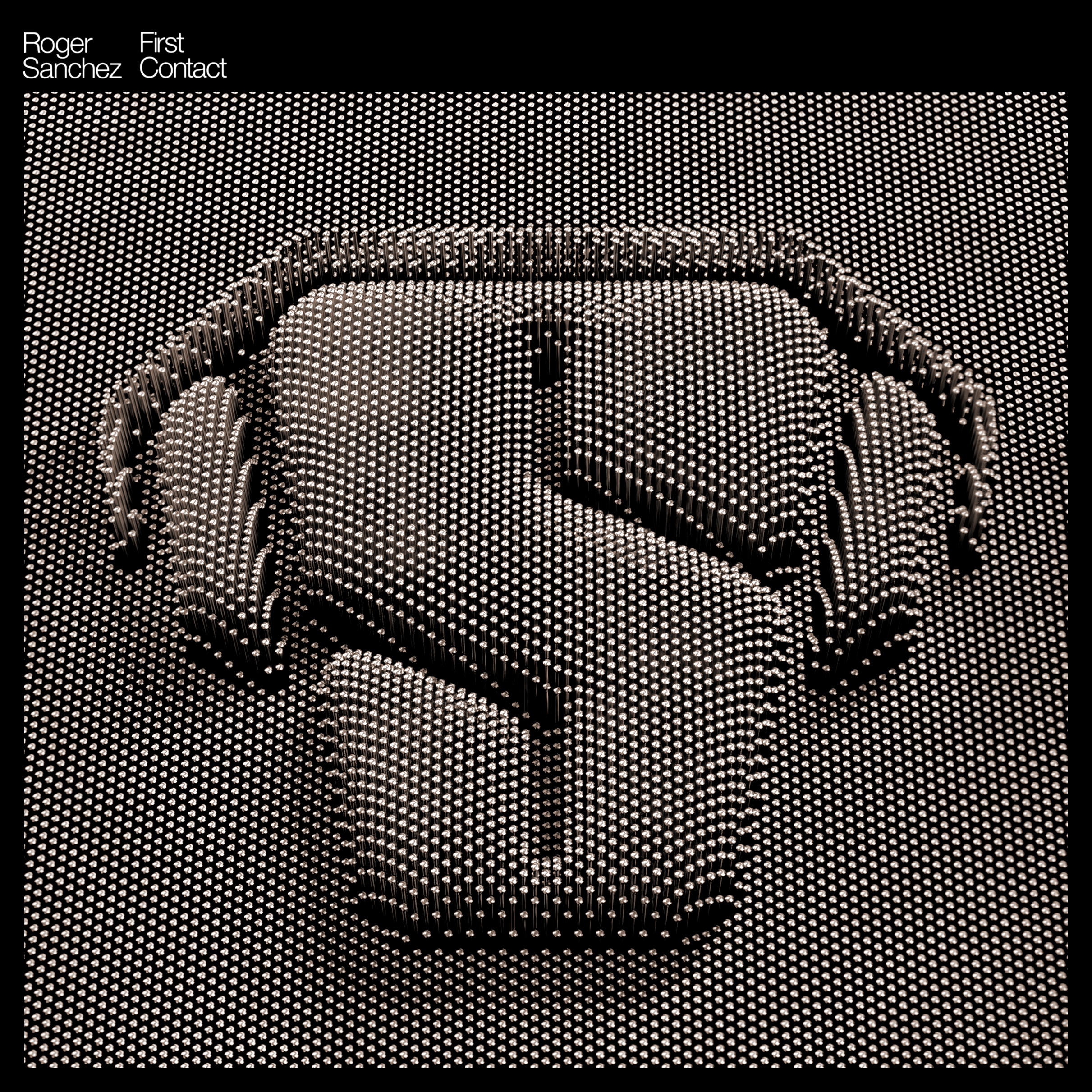 Album Artist: Roger Sanchez / Album Title: First Contact [Bronzed LP Album Art with DoF Effect]