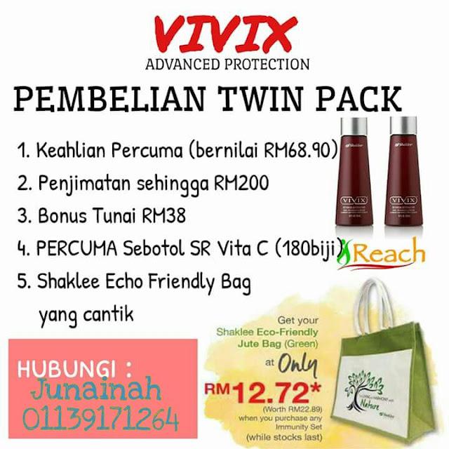 Wah!!! Pembelian Twin Pack Vivix Kembali Lagi