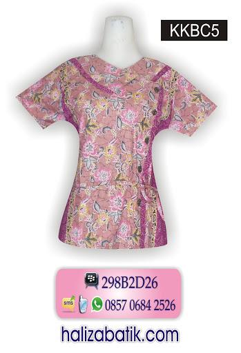 model baju kerja wanita, desain baju batik modern, jual baju batik