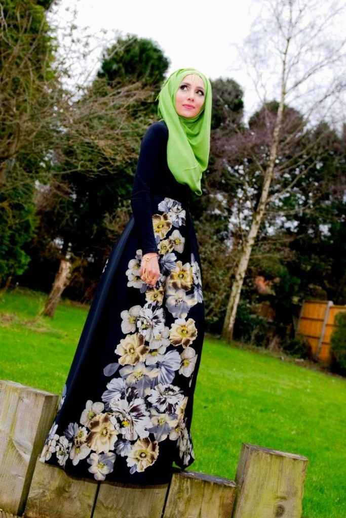 maxi dress hijab style for women 2016