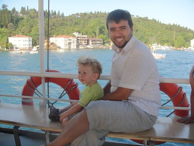 Boğaz sefamız esnasında teknede