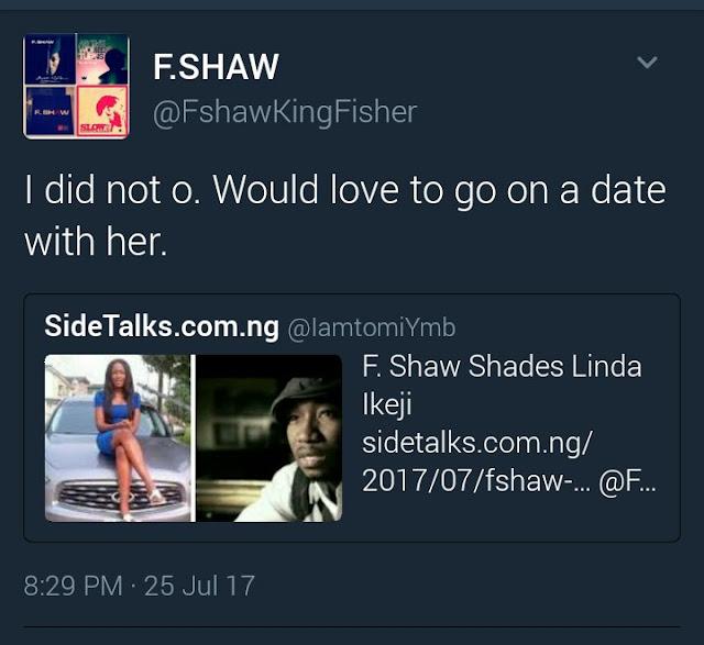 Fshaw and Linda ikeji