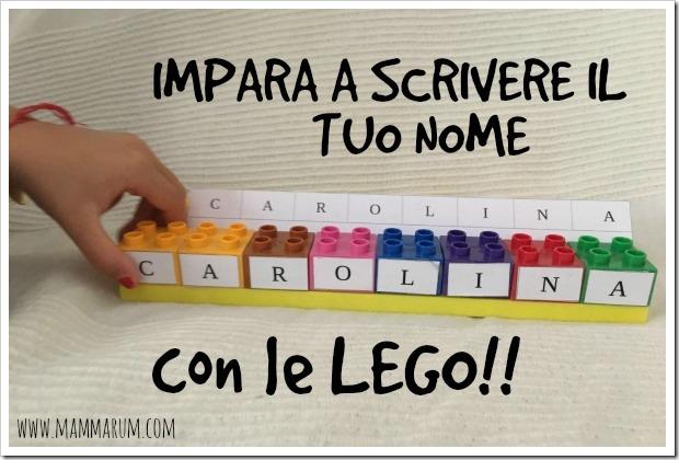 imparare a scrivere il proprio nome