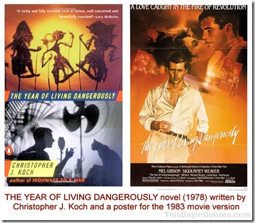 The Year of Living Dangerously book & movie 01