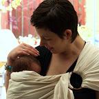 Verse baby in MamaMerel Ringsling Biologisch