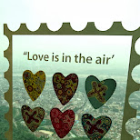 love is in the air at N Seoul tower in Korea in Seoul, Seoul Special City, South Korea