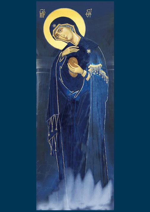 Богородица явилась на фотографию афонских монахов