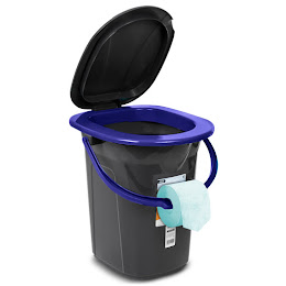 Toaleta portabila turistica camping GreenBlue, GB320BL-NB, 19 litri