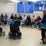 2016-02-25 Asier Sànchez ens ensenya com practicar hoquei adaptat
