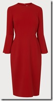 LK Bennett Long Sleeved Red Dress
