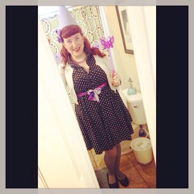 Purple Princess Pinup Fairy - a cheap plus size costume idea