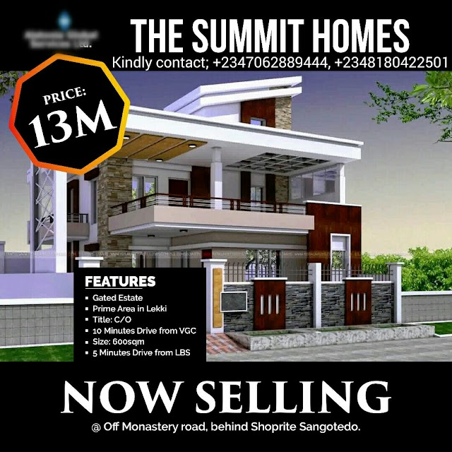 SUMMIT HOMES, OFF MONASTERY ROAD, SANGOTEDO, AJAH (LAND FOR SALE) (SOLD OUT)