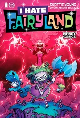 Actualización 22/01/2019: Se actualiza I hate Fairyland con el número 20 por Heisenberg, R. Richards y Letho de Infinity Comics. El cuarto arco de las hazañas de fantasía de Gert termina cuando comienza el reinado de terror de Dark Cloudia, y con ello, un aire de impermanencia e incertidumbre se cierne sobre Fairyland.
