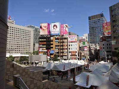 品川駅港南口側にある、飲食店などが密集するエリア