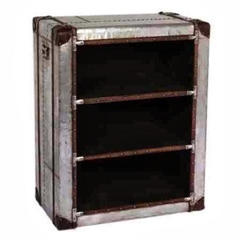 aluminium bookcase
