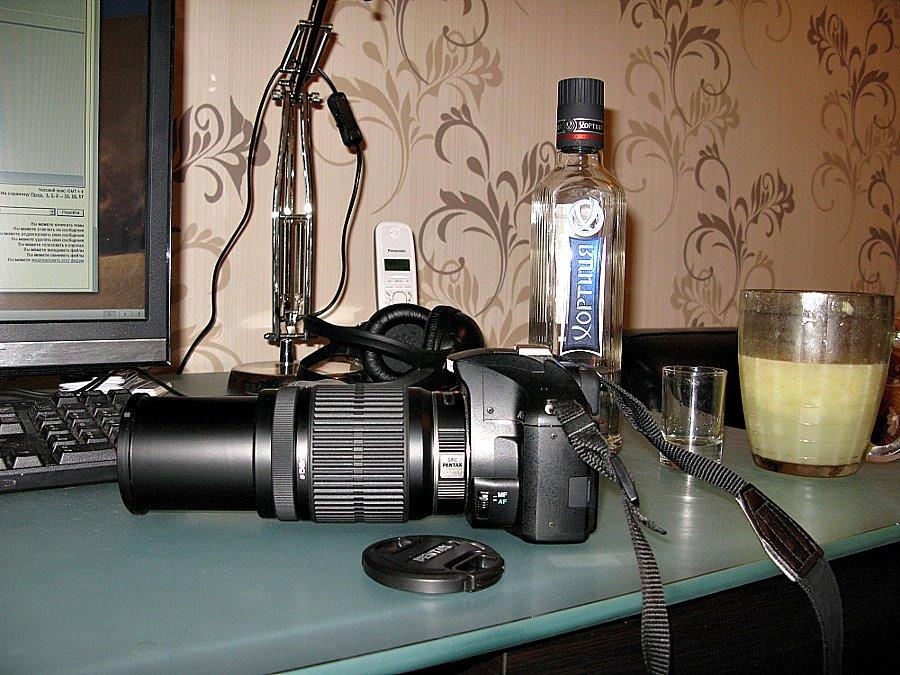 Pentax SMC DA 55-300mm f/4-5.8 ED и сок с Хортицией
