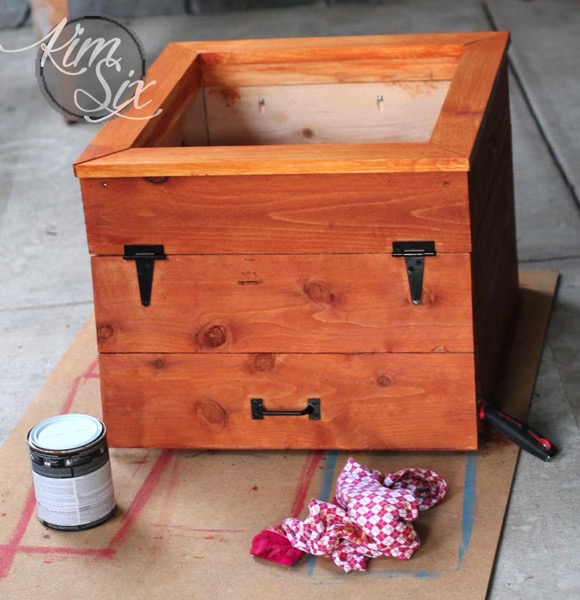 Staining Cedar flower box
