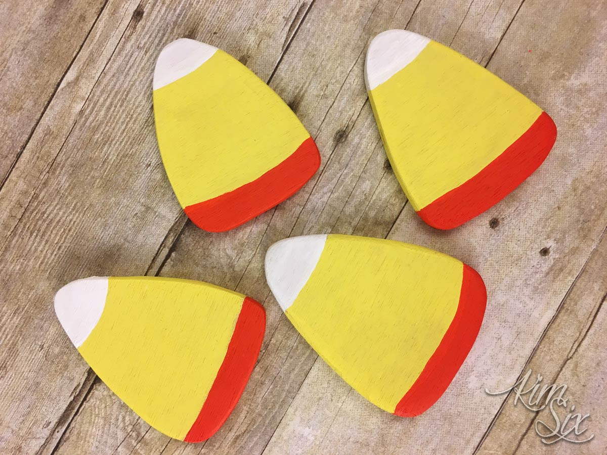 Plywood candy corn