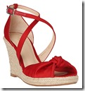 LK Bennett Red Wedge Heel Sandal