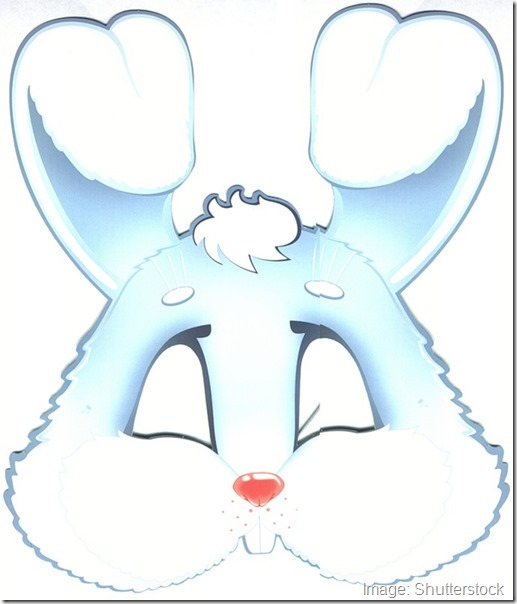 kids-face-masks-template-animals-white-rabbit-cut-out
