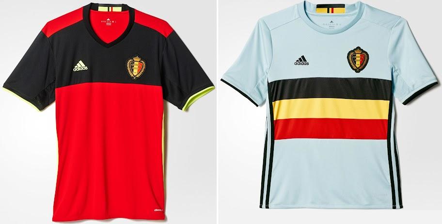 fc402599a Belgium Euro 2016 Kits – Adidad (Released). Belgium 2016 Euro s home   Away  ...