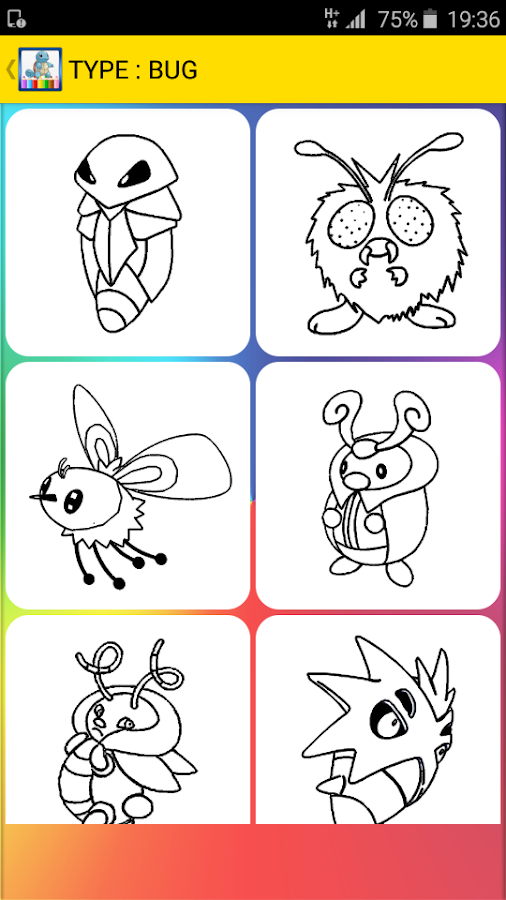 Coloring Pages For Pokem Screenshot