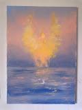 przebudzenie anioła, olej, płótno, 50x70 cm