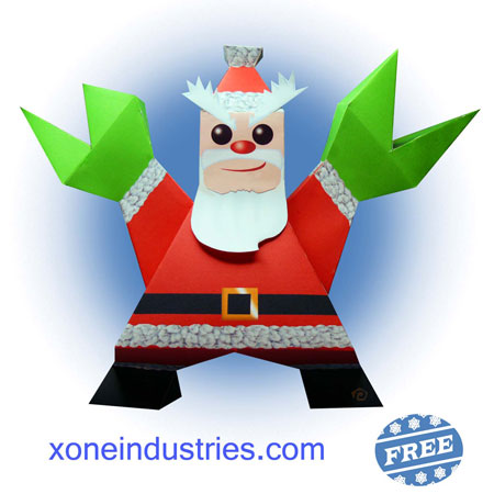 Santa Claws Papercraft