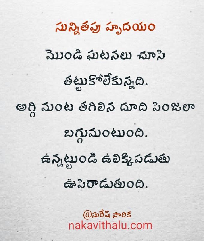సున్నితపు హృదయం - Telugu Kavithalu
