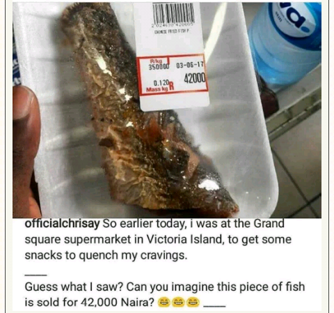 A Piece of Fish Sold For 42000 Naira