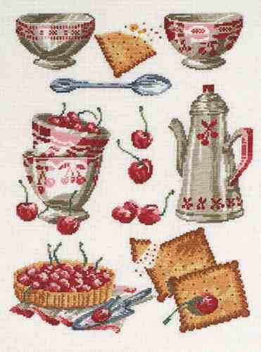 Good Life 2 Go Free Cross Stitch Chart Bowls And Cherries By Dmc