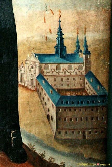 Монастир Тринітаріїв. Ікона св. Ігнатія (фрагмент)