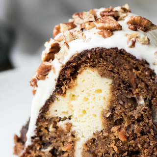 Cream Cheese Stuffed Banana Carrot Cake