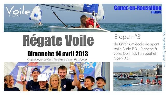 Critérium Aude_PO Canet-en-Roussillon Régate Voile Optimist 2013