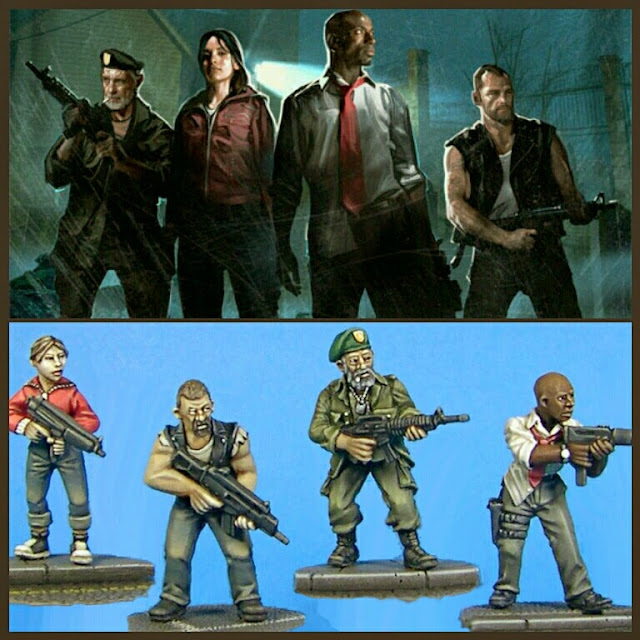 supervivientes left 4 Dead 1 de studio miniatures