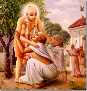 [Chaitanya with devotees]