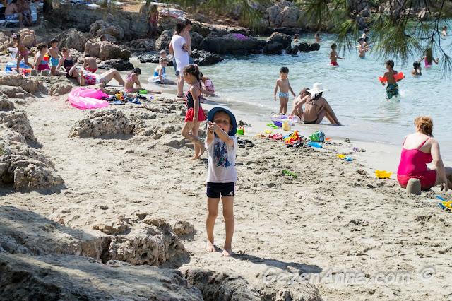plajın incecik kumlarında oynayan oğlum, İncekum Marmaris