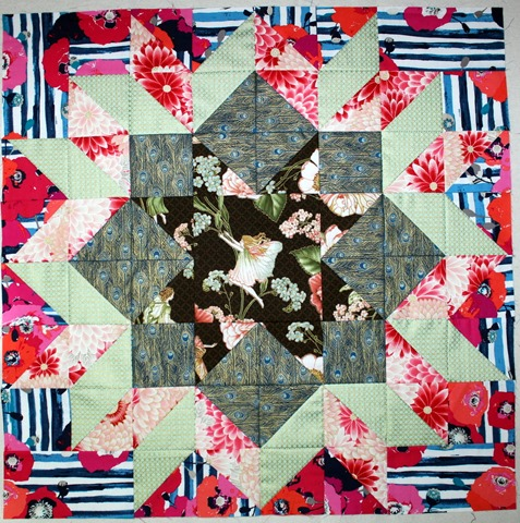 Fairy Dutch Rose Quilt Block