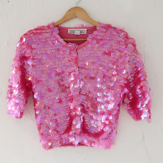 Norma Kamali Sequin Cropped Cardigan